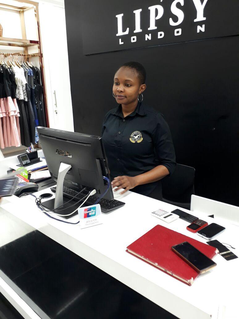 Jemima at her new job